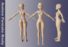 Female Body Reference For 3d Modelling Anime Female Body By Nbdante 3docean