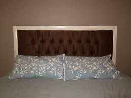 bedroom trendy framed and tufted upholstered headboard do it