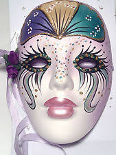 ceramic mardi gras masks porcelain mardi gras mask ebay