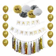 where to buy black tissue paper aliexpress buy 1 set happy birthday decorations banner gold