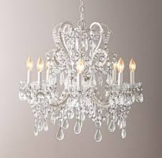 Chandelier Shapes Manor Court Crystal 8 Arm Chandelier Vintage White