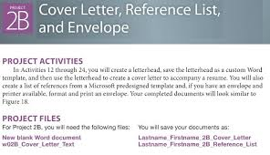 module 4 microsoft word 2b cover letter reference list and