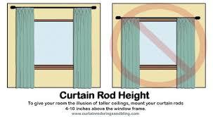 How High To Mount Curtain Rod Curtains Curtain Rod Height Decor Positioning Curtain Rods Decor