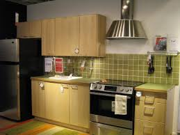 Green Tile Backsplash by Pictures Of Ikea Kitchens Compact Single Wall Kitchen With Green