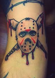 friday the 13th jason u0027s mask tattoo by trailerparkzombie on deviantart