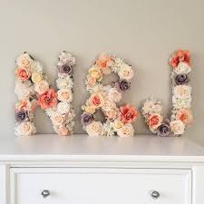 Handmade Nursery Decor by Wedding Letter Floral Letter Floral Monogram Wedding Monogram