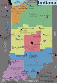 Map Of Illinois And Indiana by Indiana Regions Map U2022 Mapsof Net