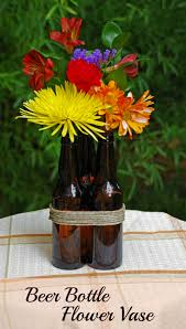 How To Draw A Vase Of Flowers How To Make A Beer Bottle Flower Vase Suburbia Unwrapped