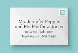 the chatty press blog how to address your wedding invitations