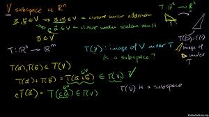 linear transformations video khan academy