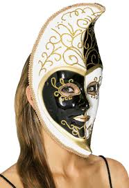 moon mask black and white venetian moon mask walmart