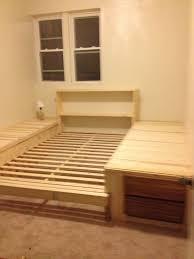 floor bed frame diy frame decorations