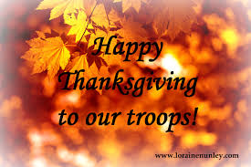 thank you thanksgiving thankful for our military loraine d nunley author