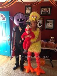 Shark Attack Victim Halloween Costume Cool Diy Count Big Bird Baby Elmo Family Halloween Costumes