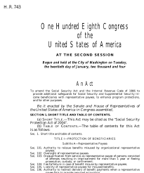 social security protection act of 2004 2004 108th congress h r