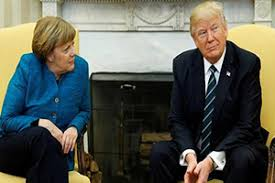 Desi Australia  Trump Merkel air differences in frosty  st meeting