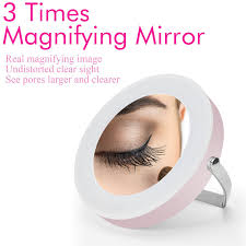makeup mirror fitnate led lighted 3x magnifying makeup mirror