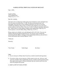 30 day move out notice template apartment move out letter