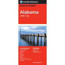 Map Alabama Rand Mcnally Easy To Read State Folded Map Alabama