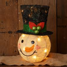 lighted tree topper lighted snowman christmas tree topper shelley b home and