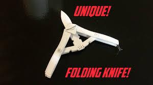 Unique Knives Unique Paper Folding Knife Youtube