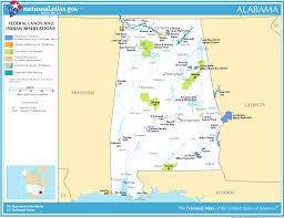 Map Of Alabama Cities Map Of Alabama Map Federal Lands And Indian Reservations
