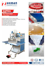 supra high frequency welder for stretch ceilings pvc films and