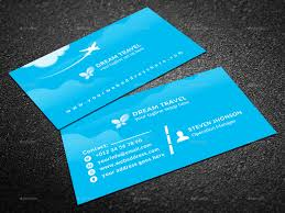 Travel agency business card by graphic forest graphicriver