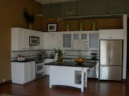 kitchen fantastic white l shape kitchen design with small