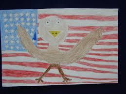 Bald Eagle On Flag Drawn Bald Eagle Us Flag Pencil And In Color Drawn Bald Eagle Us