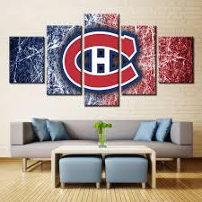 5 panels montreal canadiens professional ice hockey team modern