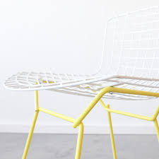 Bertoia Dining Chair Knoll Bertoia Side Chair White Yellow Cast Crew Touch