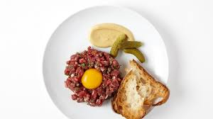 tartare cuisine beef tartare with cherry peppers recipe bon appetit