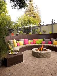 Backyard Firepit Ideas Colorful Backyard Firepit Ideas