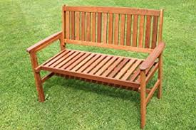 Garden Bench Hardwood Tropicana Hardwood 2 Seater Garden Bench Amazon Co Uk Garden