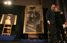 Oval Office Paintings by Bill Clinton U0027s Portrait Includes A Nod To Monica Lewinsky Painter