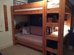 High Sleeper With Futon And Desk Stompa High Sleeper With Desk And Futon Beautiful Pine Cabin Bed