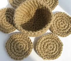 jute coasters mugs mat cup mat crochet rustic coasters
