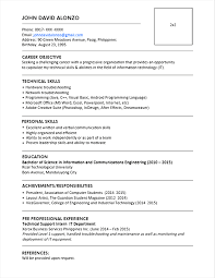 simple resume sle for fresh graduate pdf to excel create one page resume format pdf sle resume format for fresh