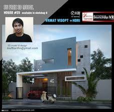 sketchup texture free sketchup model modern villa 25 visopt and