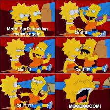 Bart Simpson Meme - the simpsons meme bart making meme faces on bingememe