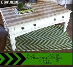 Painted Coffee Table Chevron Painted Coffee Table Painted Furniture Before After