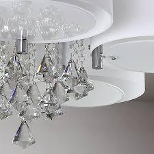 schön wohnzimmerlampe modern natsen deckenlampe 5 flammig kristall