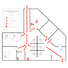 evacuation floor plan template