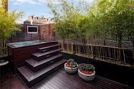 creative idea oriental garden with small rectangle outdoor tub