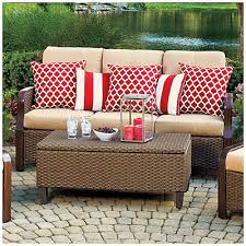 wilson fisher tuscany resin wicker cushioned sofa at big lots