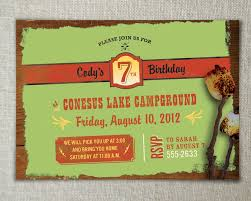 camp out invitations ideas camping theme party camping birthday