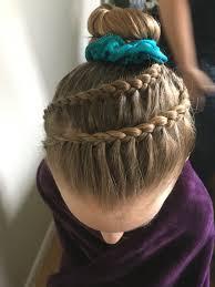 gymnastics competition hair braid hair pinterest