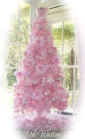 my shabby pale pink flocked christmas tree u003c3 u003c3 u003c3 mel u0027s pink