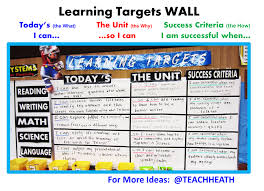 engage now learning target walls teacher heath